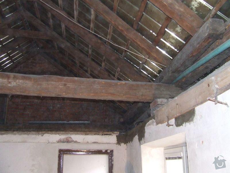 Rekonstrukce dřevěných stropů a podlahy půdy, přístupu na půdu a termoizolace: 2-1prubeh_vymena_stropnich_tramu