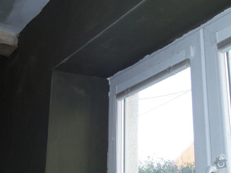 Rekonstrukce dřevěných stropů a podlahy půdy, přístupu na půdu a termoizolace: 3dokoncovani_detail_omitka_u_okna