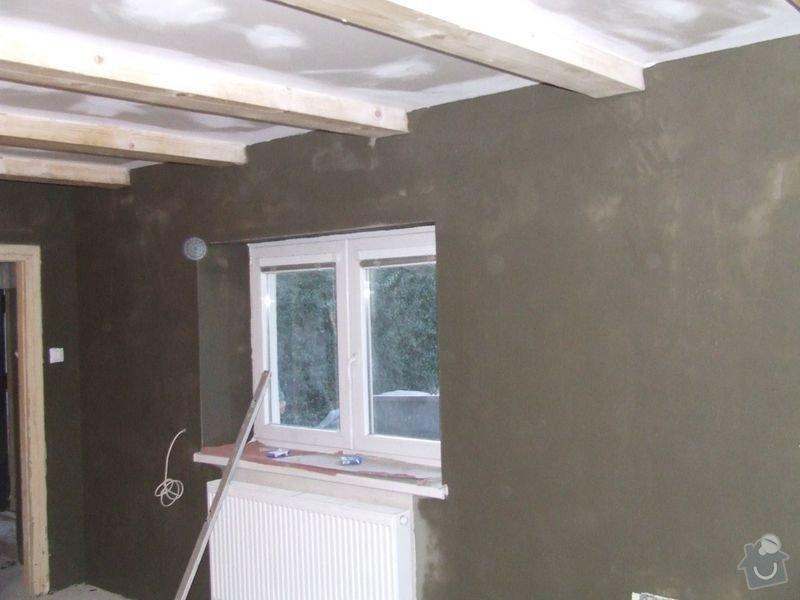 Rekonstrukce dřevěných stropů a podlahy půdy, přístupu na půdu a termoizolace: 3dokoncovani_omitka_a_strop