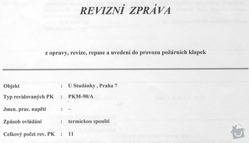 Revize protipožárního odvětrání a klapek: otk_013