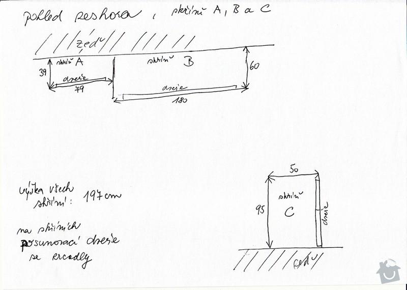 Výroba 3 skříní z masivu borovice na míru: Skrine01_pic