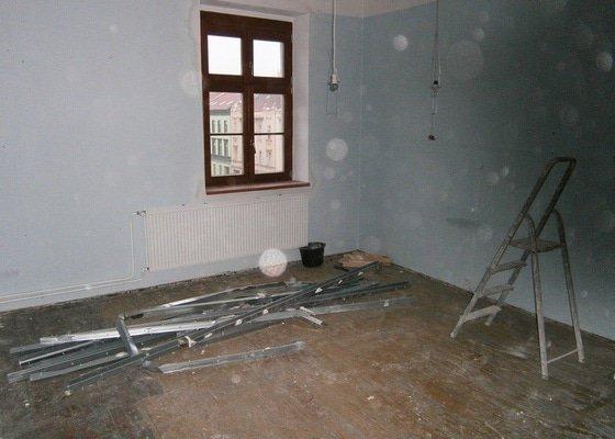 Přestavbu cihlového bytu 2+1 na 3+kk