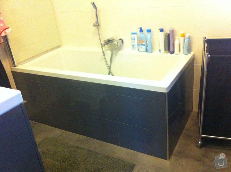 Instalatérské práce, sprchový kout 2x, vana 1x, opravy a nové instalce: Vana-koupelna-2