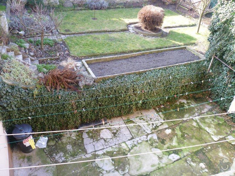 Hromosvod - instalace zemnicích tyčí: zahrada
