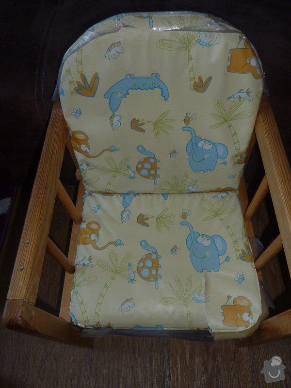 Čalounictví, potah na židličku: P1100526