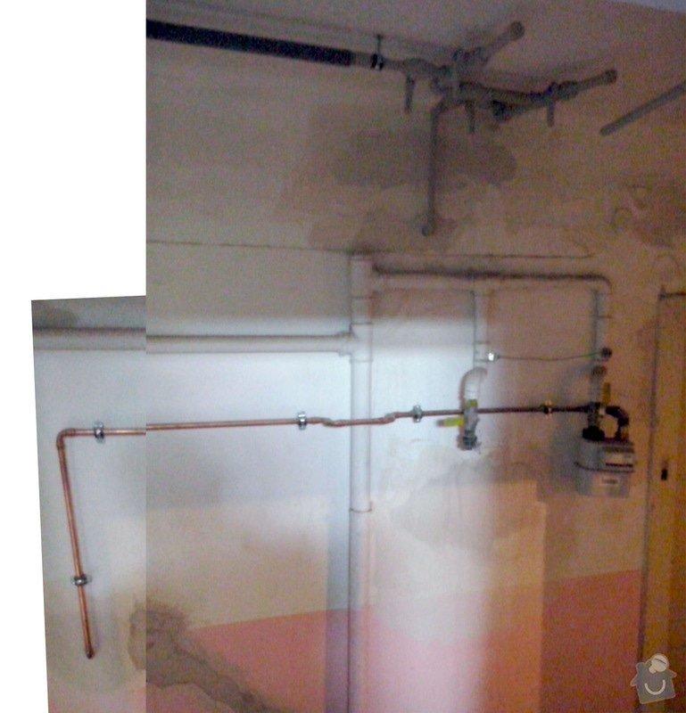 Plynařské práce - předělání vedení plynu do zdi: plyn_zazdeni_-_stavajici_stav