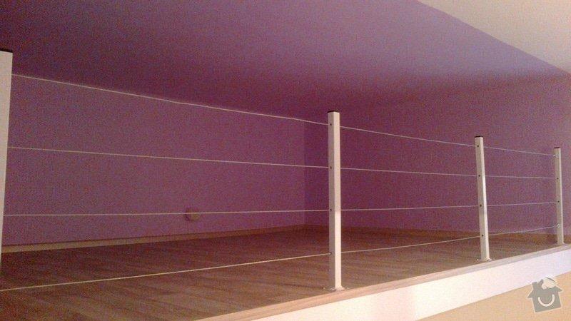 Pokládka lina (gerflor?) v 1 pokoji s patrem (dohromady včetně patra cca 20 m2): podlaha-na-patre