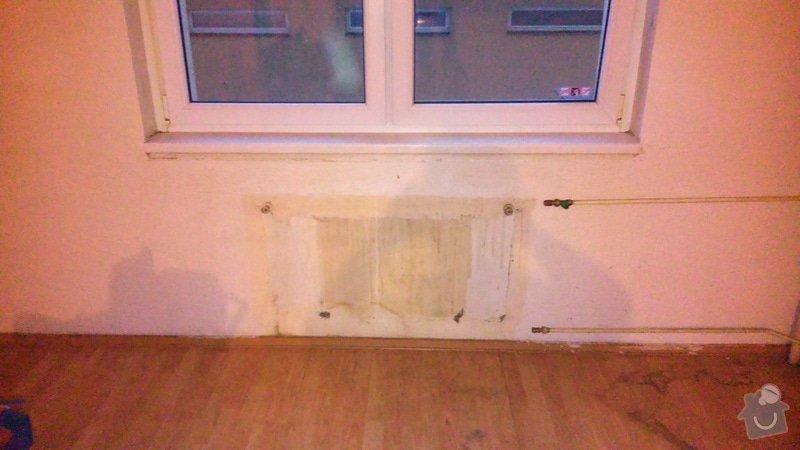 Instalatérské práce, instalace nového radiátoru: DSC_0091