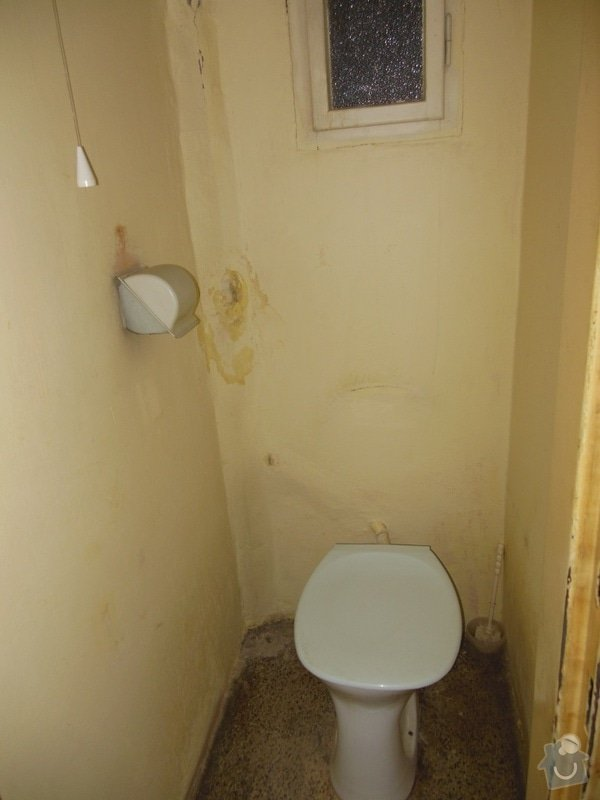 Rekonstrukce koupelny a wc, obklad kuchyně: wc