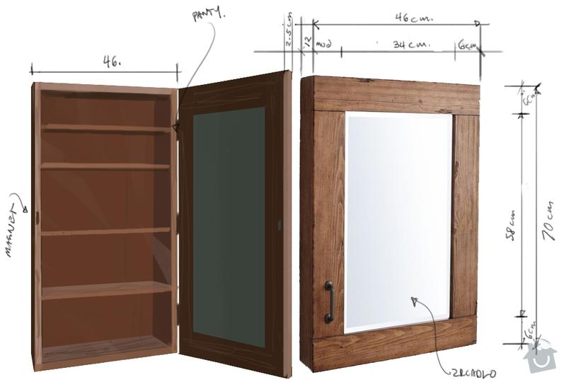 Vyrobit drevenou skrinku s zrcadlem: kopii_starou_skrinku