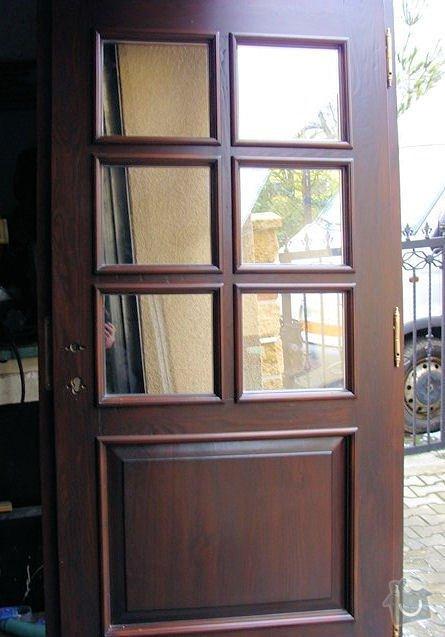 Výroba dřevěných dveří se zárubní a sklem: 2014-x-x-x
