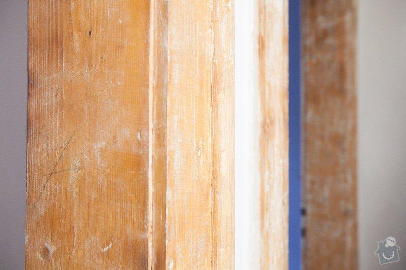 Výroba atypického dveřního prahu / kopie futra: _MG_2180