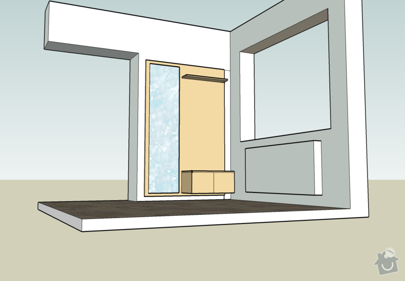 Předsíňovou stěnu+desky na lavičku: satna2
