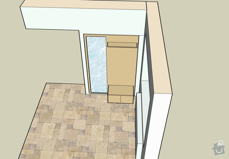Předsíňovou stěnu+desky na lavičku: satna3