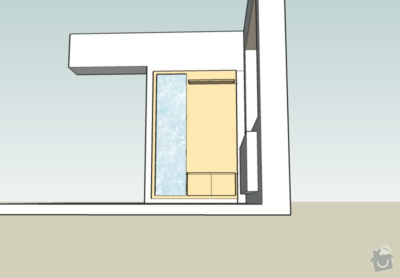 Předsíňovou stěnu+desky na lavičku: satna4