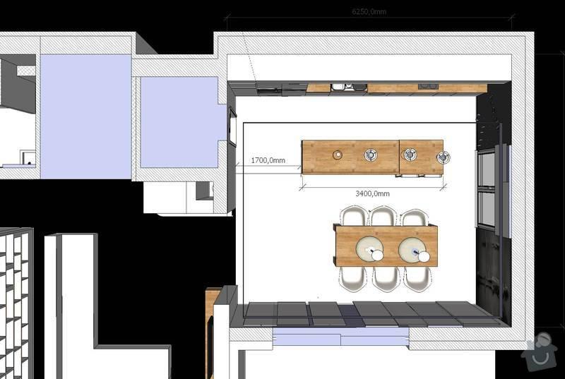 Kuchyňská linka a další nábytek: Kuchyn_pudorys
