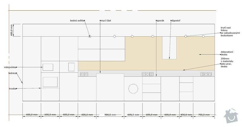 Kuchyňská linka a další nábytek: Kuchyn_usporadani