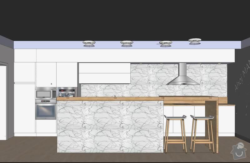 Kuchyňská linka a další nábytek: Kuchyn_usporadani_vizualizace