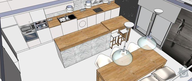 Kuchyňská linka a další nábytek: Kuchyn_vizualizace1