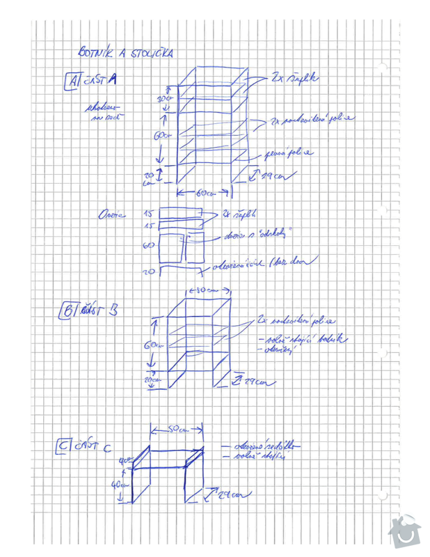 Nábytek v chodbě / vstupní hale RD: Nizke_botniky_a_stolicka