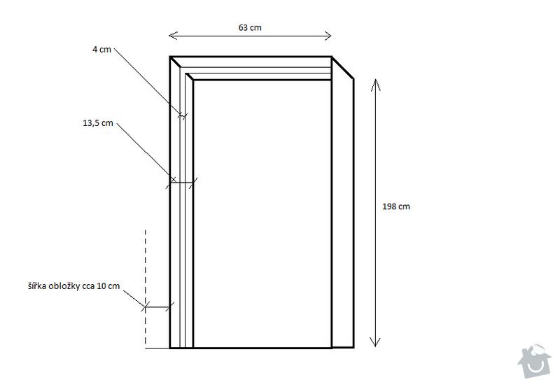 Bílá obložka na posuvné dveře: oblozka