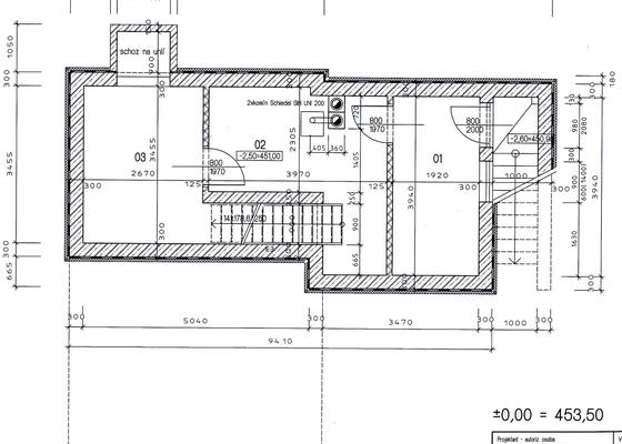 Vybagrování jámy pro sklep cca 6,5x12,5x2,7m