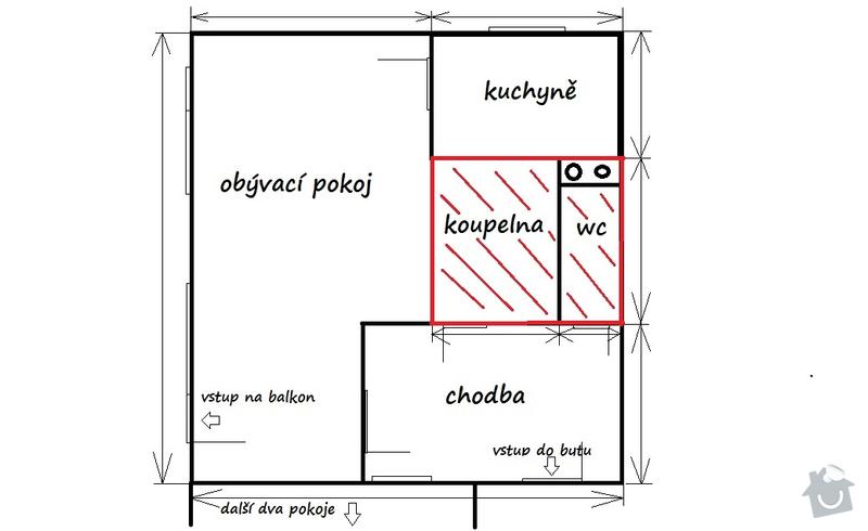 Rekonstrukce bytového jádra v panelovém domě: byt