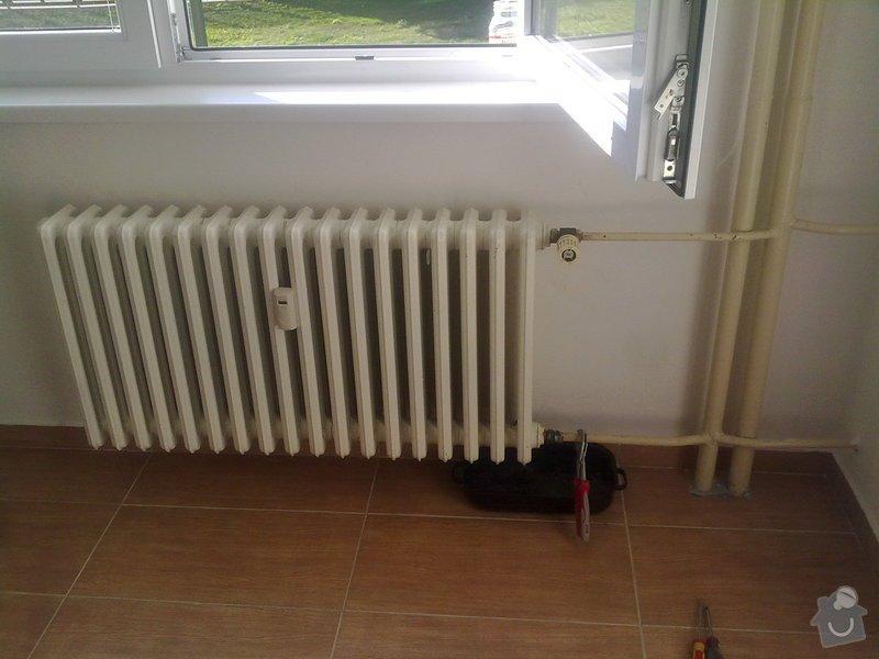 Výměna 2 radiátorů: 1
