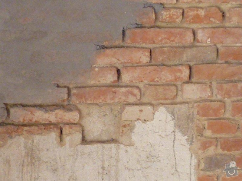 Oprava stěny - vydrolená malta: p1040305
