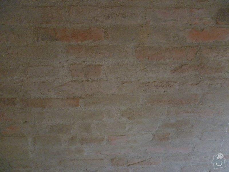 Oprava stěny - vydrolená malta: p1040309