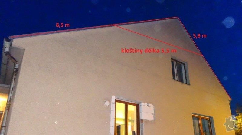 Přeložení a zateplení střechy: pohled_bok