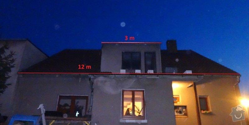 Přeložení a zateplení střechy: pohled_ze_dvora