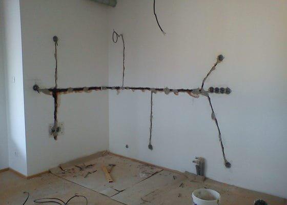Elektroinstalace - nová kuchyňská linka