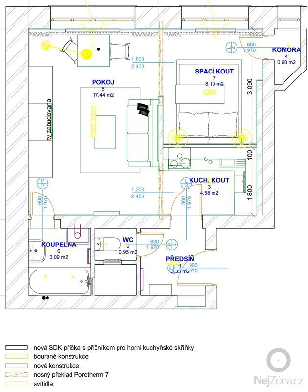 Rekonstrukce mládeneckého bytu: PUDORYS_1