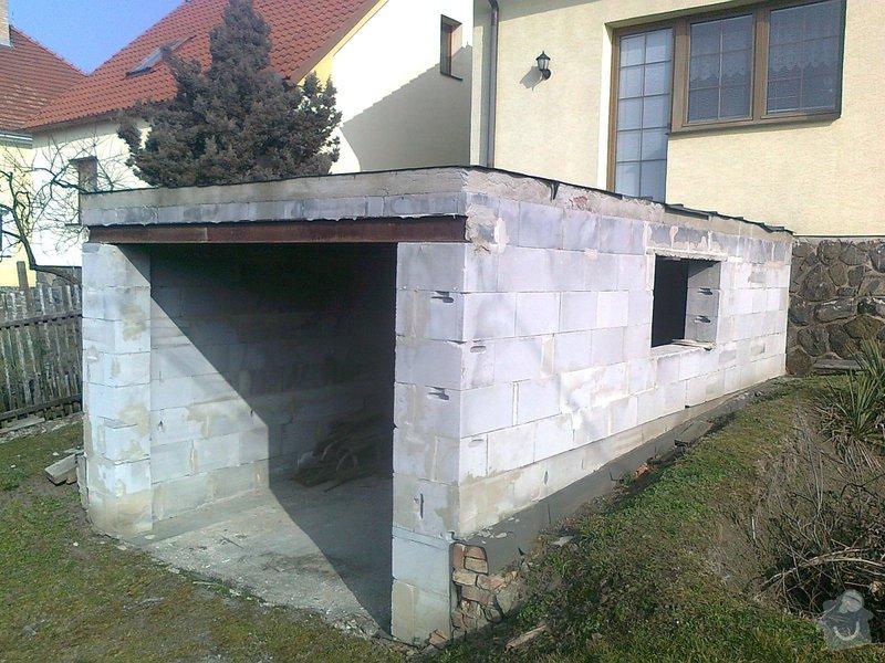 Dostavba garáže s terasou : fotografie0095