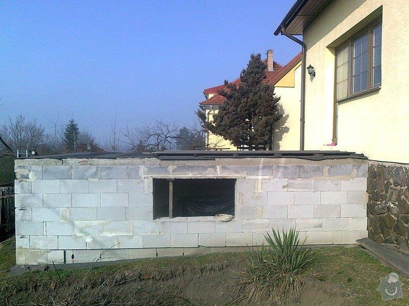 Dostavba garáže s terasou : fotografie0097