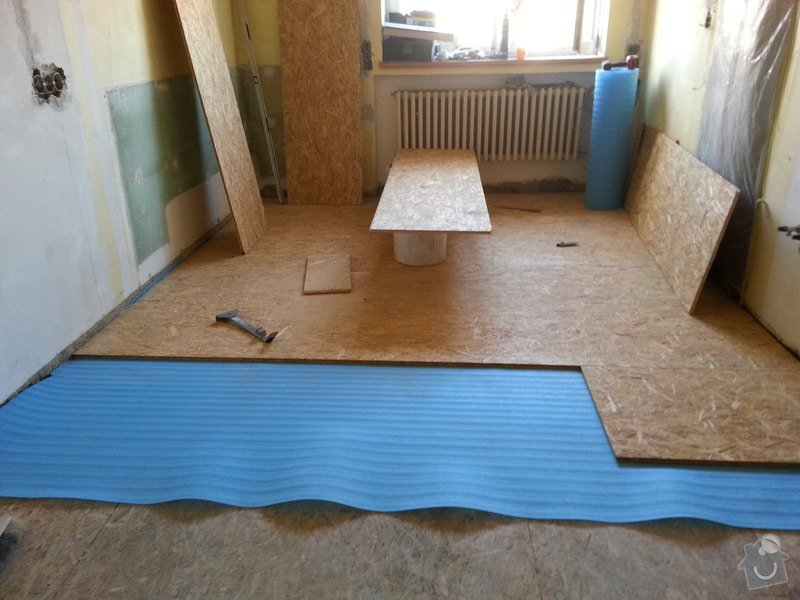SDK strop/OSB podlaha/kosmetika stěn: 20140227_144630