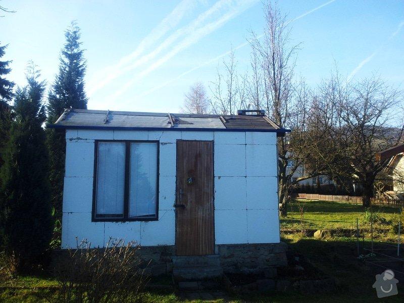Střecha chatičky - zbourat původní a stavba nové: 20140310_155305