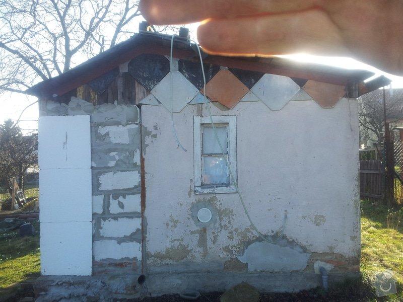 Střecha chatičky - zbourat původní a stavba nové: 20140310_155326