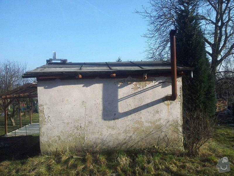 Střecha chatičky - zbourat původní a stavba nové: 20140310_155342