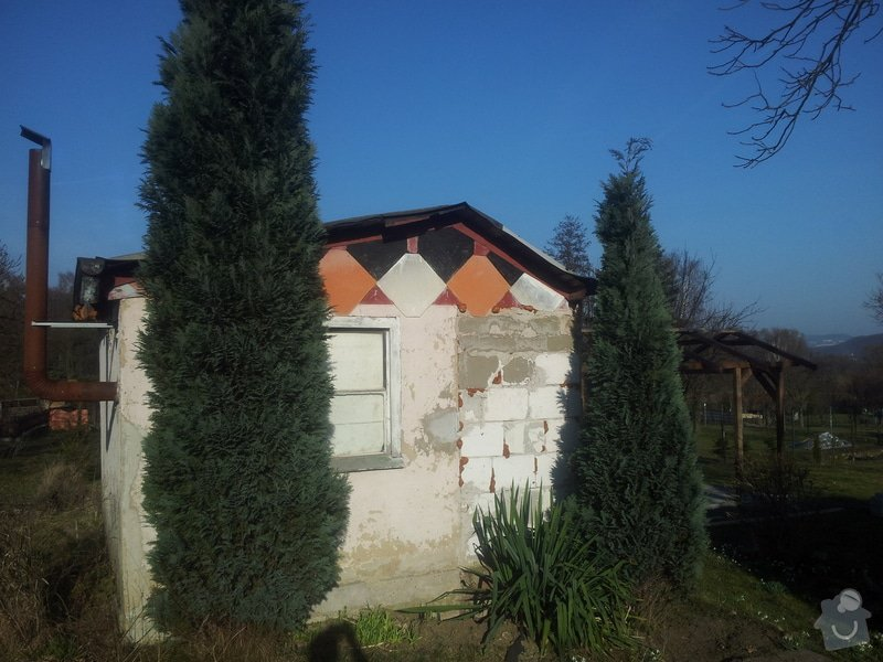 Střecha chatičky - zbourat původní a stavba nové: 20140310_155359