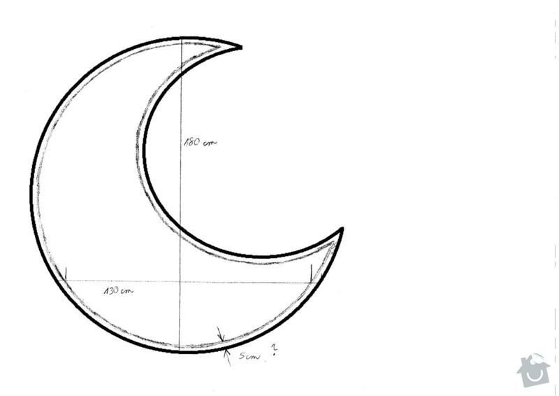 Dřevěný rám: mesic_nakres