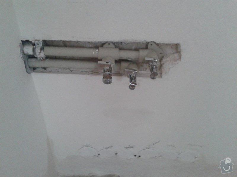 Příprava elektroinstalace a rozvodů vody ke kuchynské lince: 20131020_143947