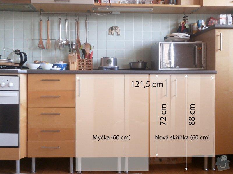 Nova skrinky kuchynska linka: kuchyn-nakres