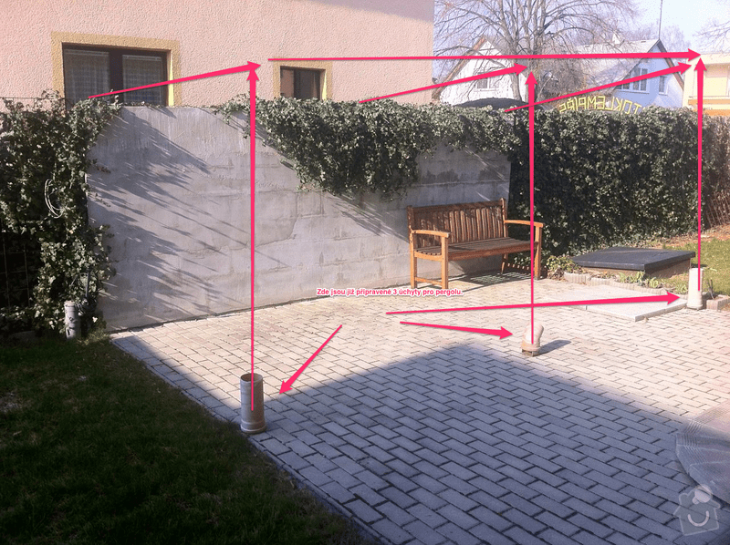 Pergola cca 5 x 2.5 m: Pergola_K_Viaduktu_s_popiskem