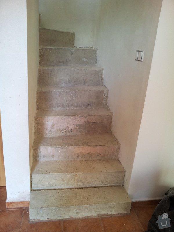 Rekonstrukce menšího schodiště vč. zábradlí: Zprizemi