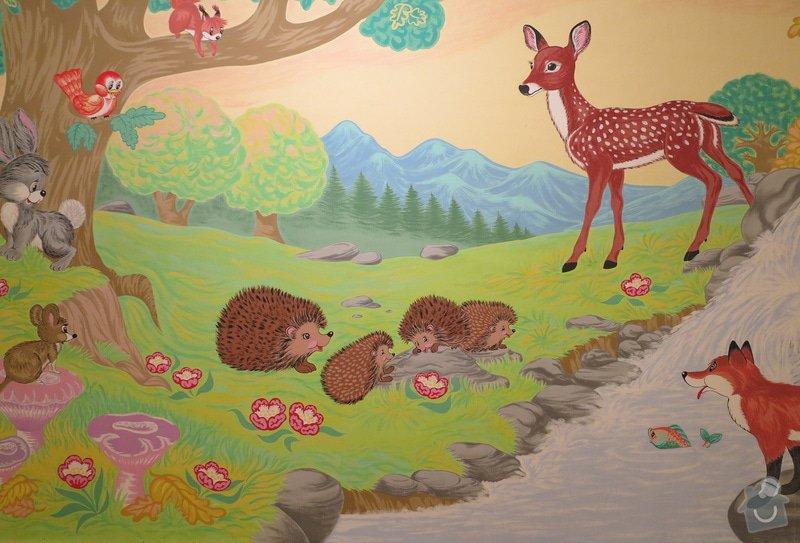 Malba na zeď v dětském pokojíčku: 4b