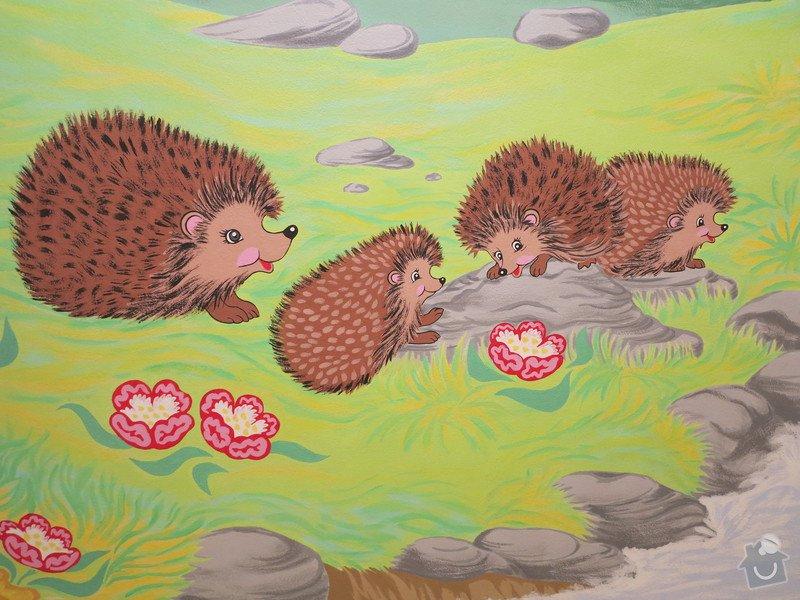 Malba na zeď v dětském pokojíčku: 6b
