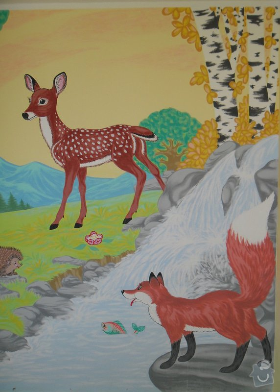 Malba na zeď v dětském pokojíčku: 8j