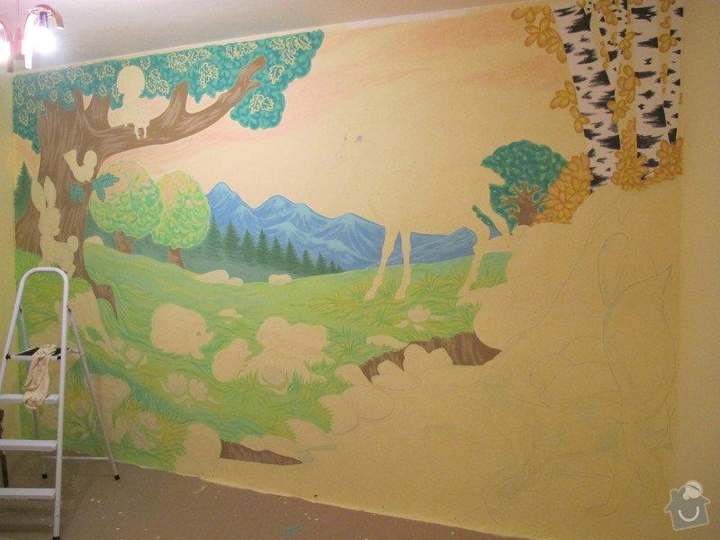 Malba na zeď v dětském pokojíčku: 11_vznik